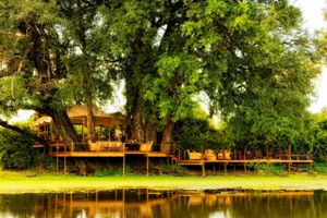 Front view of Kanga Camp - Mana Pools, Zimbabwe