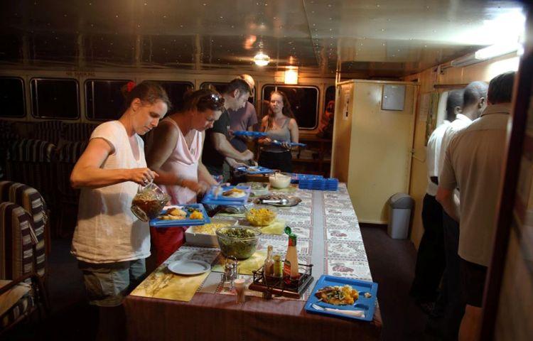 Dinner aboard the Kariba Ferry