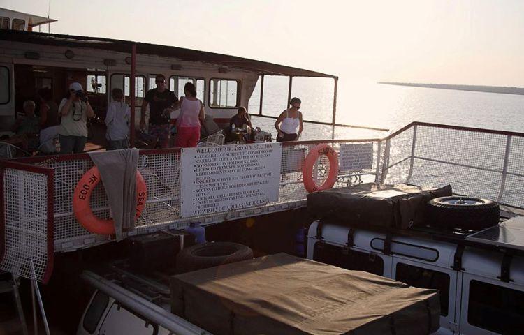 Aboard the Kariba Ferry