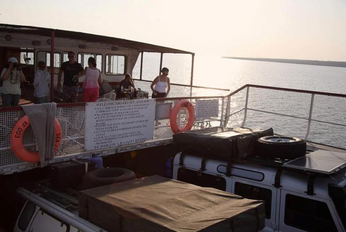 Kariba Ferries taking passengers across Lake Kariba