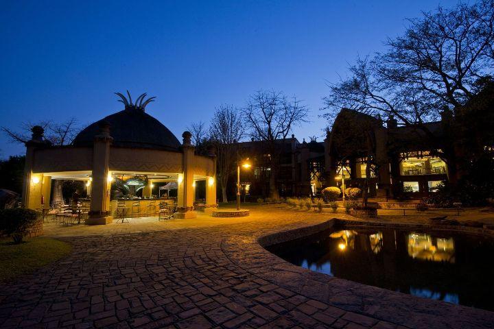 Dine on the deck of A'Zambezi River Lodge Hotel in Victoria Falls, with views of the Zambezi River - Zimbabwe