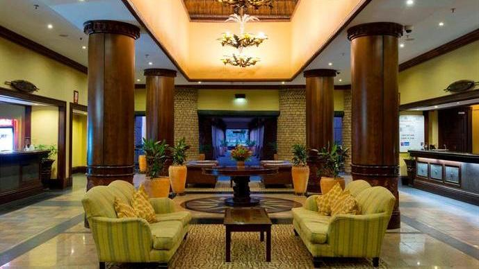 The hotel foyer