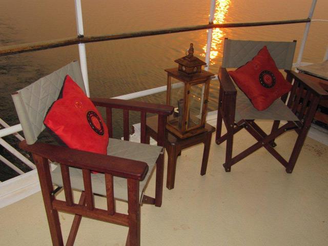 Upper deck directors chairs
