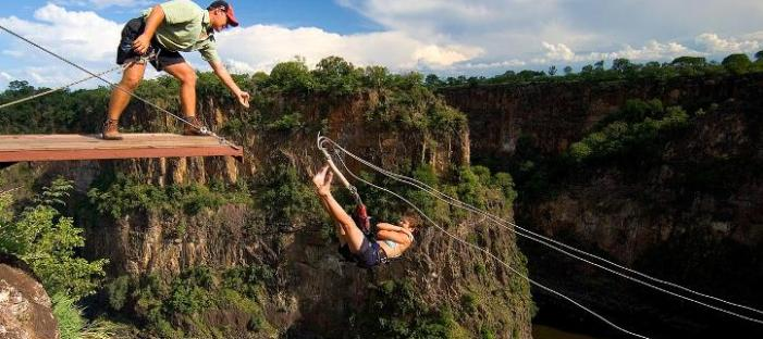 Highwire on top of the gorges