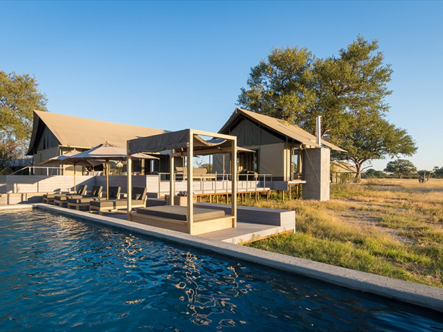 The pool at Linkwasha Camp in Hwange National Park - Zimbabwe