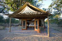 Little Makalolo tent in Hwange National Park
