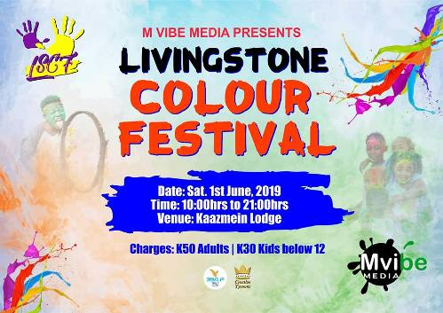 Livingstone Colour Festival 2019 near Victoria Falls in Zambia