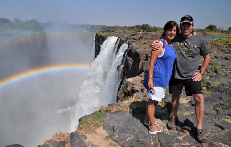A guided tour of Livingstone Island on the edge of the Victoria Falls