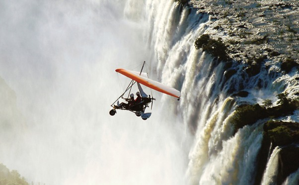 Breathtaking views via microlight flghts over the Victoria Falls and Zambezi River - Zimbabwe and Zambia