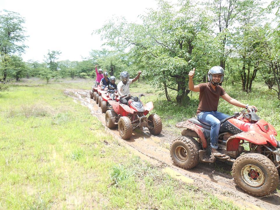 Quad biking near Victoria Falls
