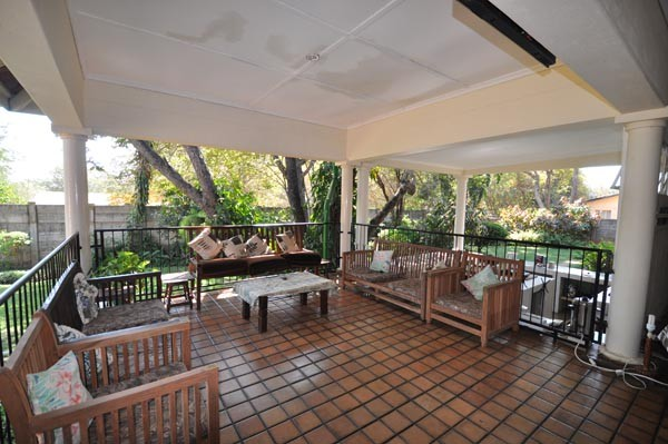 The entertainment area at Livingstone Lodge - Victoria Falls, Zimbabwe