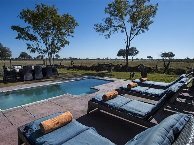 Little Makalolo Camp's poolside - Hwange National Park, Zimbabwe