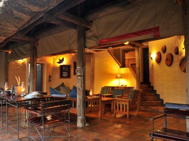 Lounge area inside a lodge