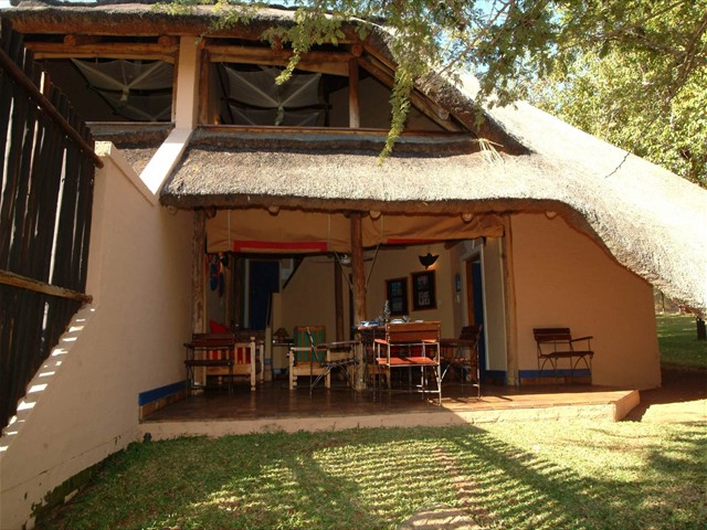Outside a 2 bedroomed Lokuthula lodge