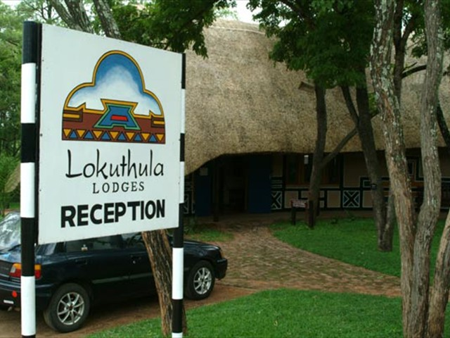 Outside the Lokuthula Lodge reception