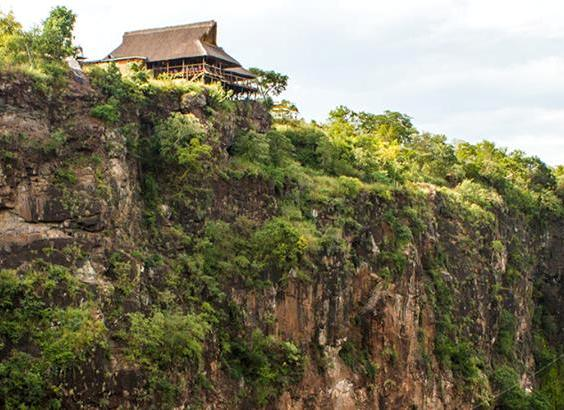 The Lookout Cafe on the edge of the Batoka gorge, Victoria Falls, Zimbabwe