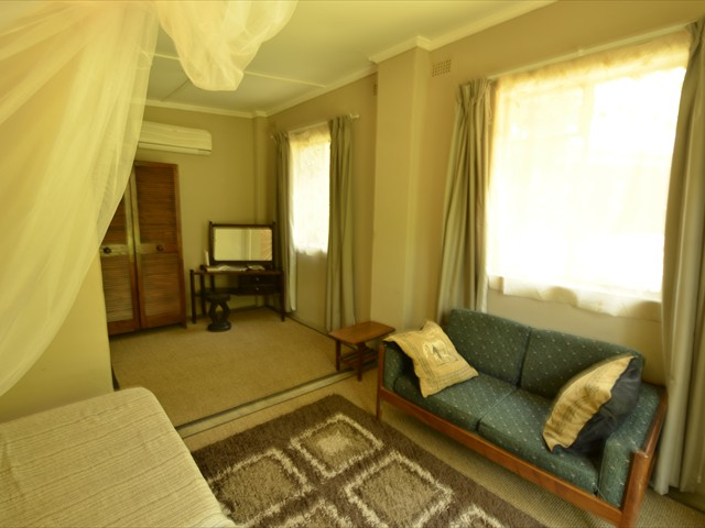 Inside a double room at Lorries B & B in Victoria Falls, Zimbabwe