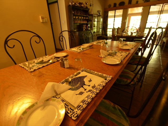 Dining room with a homely feel