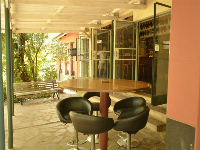 Bar chairs on the veranda