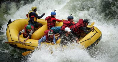 Rafting the Zambezi River