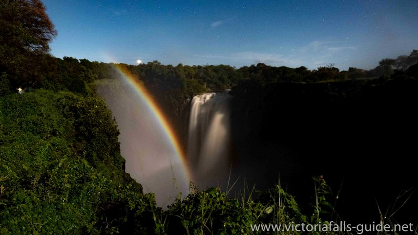 Lunar tour of the Victoria Falls in Zimbabwe