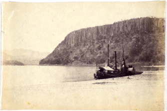The Ma Robert boat used by David Livingstone to attempt going upstream on the Zambezi River