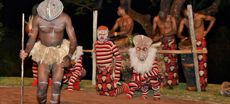 Makishi Dancers at Night