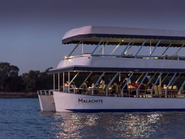 The Malachite on the Zambezi River - dinner cruise in Victoria Falls, Zimbabwe