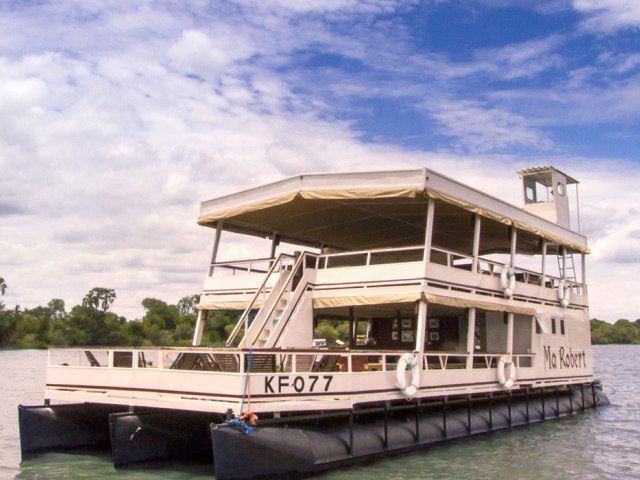 The Ma Robert boat on the Zambezi River - dinner cruise in Victoria Falls, Zimbabwe