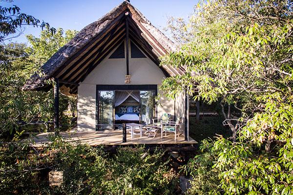 Masuwe Lodge room, Victoria Falls, Zimbabwe