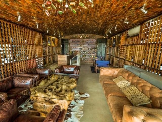 An impressive wine cellar