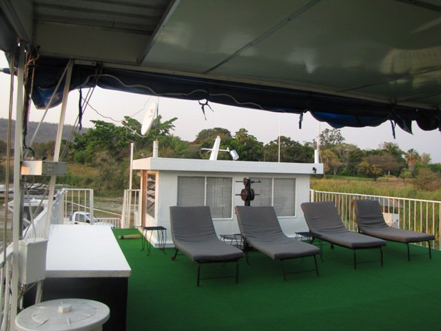 Chill area on the top deck