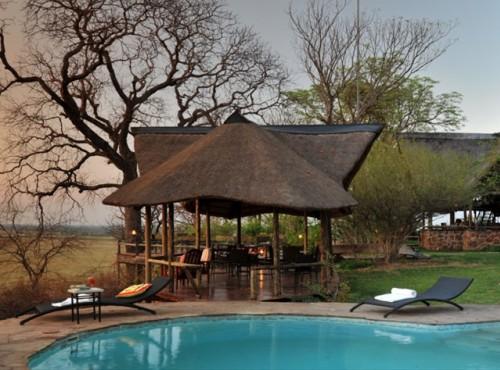 Poolside at Muchenje Safari Lodge - Chobe, Botswan
