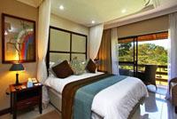 Uncomplicated design in A'Zambezi River Lodge rooms