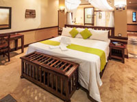 Luxury safari room at Chobe Safari Lodge, Botswana
