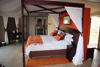 Luxurious rooms at Elephant Camp near Victoria Falls, Zimbabwe