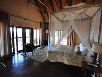 Comfortable accommodation at Gorges Lodge on the edge of the Zambezi gorges, near Victoria Falls, Zimbabwe