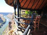 Living on the edge at Gorges Lodge atop the Batoka Gorge downstream from the Victoria Falls, Zimbabwe