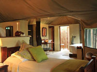 Deluxe tent at The Hide Safari Camp, Hwange National Park, Zimbabwe