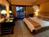 A room at Hwange Safari Lodge near Hwange National Park, Zimbabwe
