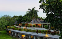 The exterior view of Ilala Lodge in Victoria Falls, Zimbabwe