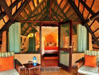 Safari chalet at Imbabala Safari Lodge near Victoria Falls, Zimbabwe