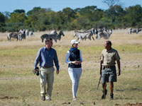Guided walk at Linkwasha Camp, Hwange National Park - Zimbabwe