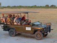 Game drives into Hwange National Park, Zimbabwe