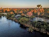 The location of Old Drift Lodge on the Zambezi within Zambezi National Park, near Victoria Falls - Zimbabwe