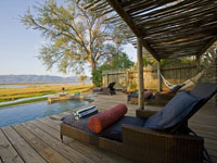 Poolside at Ruckomechi Camp, Mana Pools, Zimbabwe