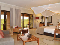 Afro-inspired suites at Victoria Falls Safari Club in Zimbabwe