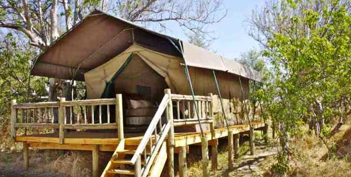 Tented camp in Moremi