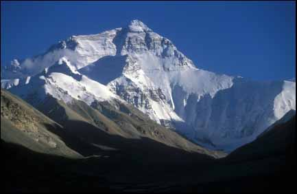 Mount Everest viewed from Tibet
