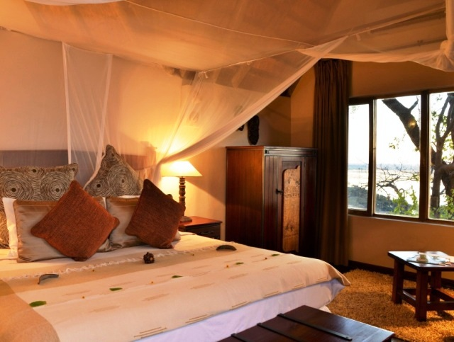Beautiful rooms at Muchenje Safari lodge but the Chobe River plains - Botswana